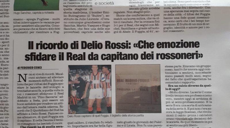"""Accadde oggi/ 14 Agosto 1987, il Foggia incontra il Real: il ricordo del """"Quotidiano del Sud"""""""